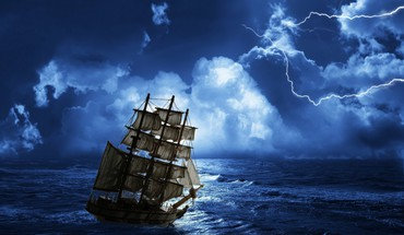 Ships storm HD wallpaper