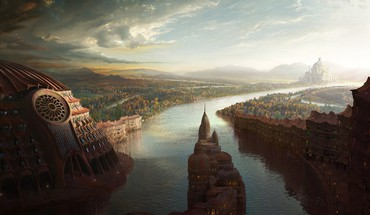 Abstract cities fantasy art HD wallpaper