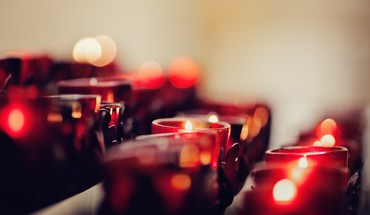 Bokeh candlelight candles depth of field fire HD wallpaper