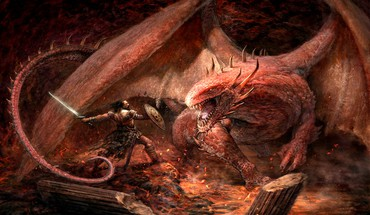 Dragons fantastiques guerriers de l'art  HD wallpaper