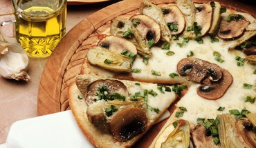 Pizza alimentaire champignons artichauts  HD wallpaper