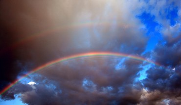 Rainbows skyscapes HD wallpaper