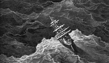 Gustave dore artwork drawings grayscale sea HD wallpaper