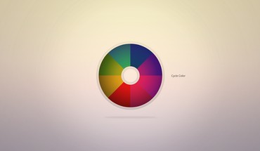 Circles colors color spectrum minimalistic spheres HD wallpaper