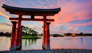 lacs torii Epcot disneyland culture architecture japonaise  HD wallpaper