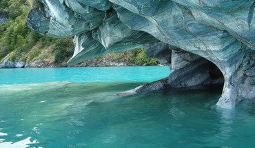 Cathedral marble chile patagonia caves erosion HD wallpaper
