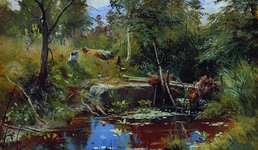 Ponds artwork traditional art ivan shishkin russian HD wallpaper