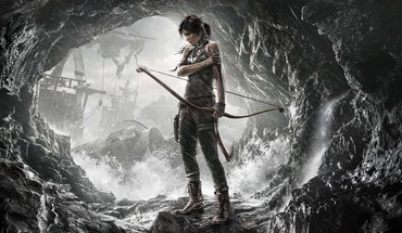 Lara croft tomb raider arrows artwork black hair HD wallpaper
