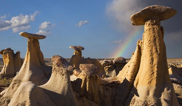New mexico badlands rock formations HD wallpaper