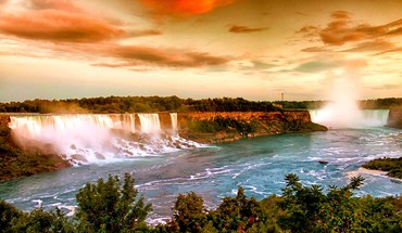 Usa new york city niagara falls waterfalls HD wallpaper