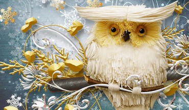 Wise Winter Eule  HD wallpaper