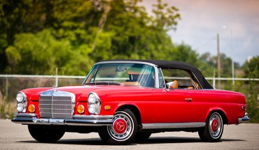 1969 mercedes 280se cabriolet HD wallpaper