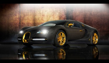 Bugatti Veyron voitures en fibre de carbone Mansory or  HD wallpaper