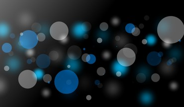 Abstract blue bokeh circles gray HD wallpaper