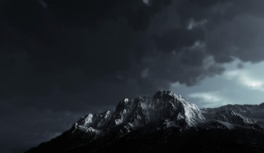 Mountains clouds landscapes shadows overcast HD wallpaper
