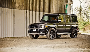 Black automobiliai Mercedes-Benz MERCEDES BENZ Geländewagen G500  HD wallpaper