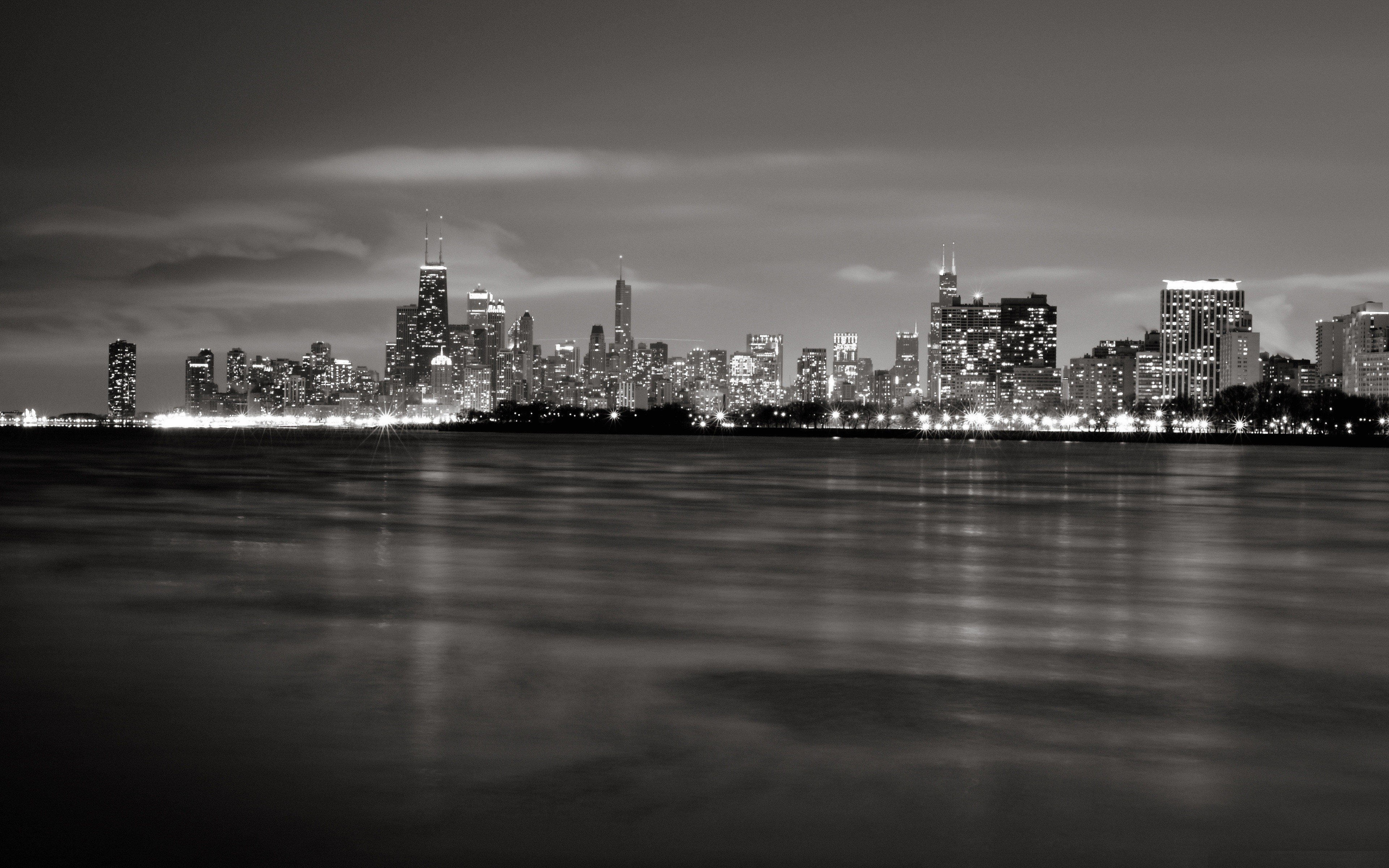 Great Wallpaper Macbook Chicago - chicago-cityscapes-grayscale-skylines-3840x2400-wallpaper  Trends_419387.jpg