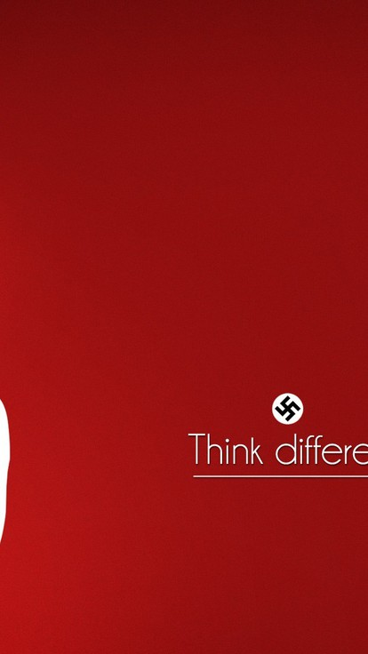 Minimalistic Text Nazi Adolf Hitler Red Background Wallpaper
