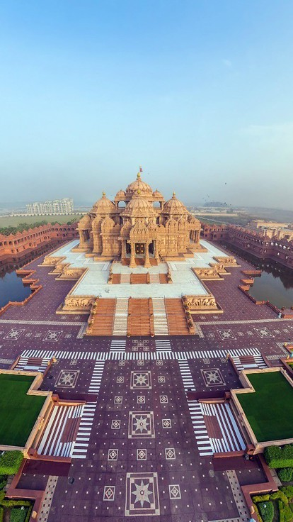 Cityscapes india akshardham temple wallpaper for Wallpaper home india