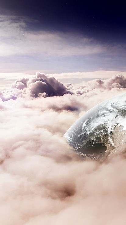 Earth through clouds wallpaper | AllWallpaper.in #5597 ...
