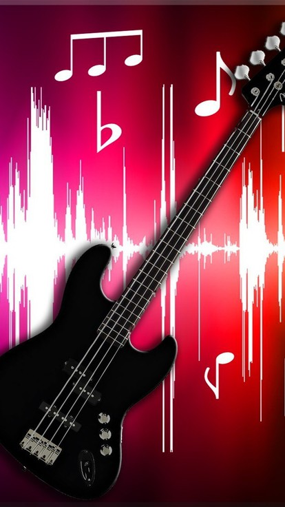 Fender Black Bass Guitare Papier Peint Allwallpaperin 7 Pc Fr