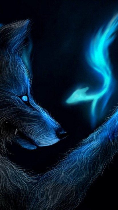Magic wolf wallpapers - photo#26