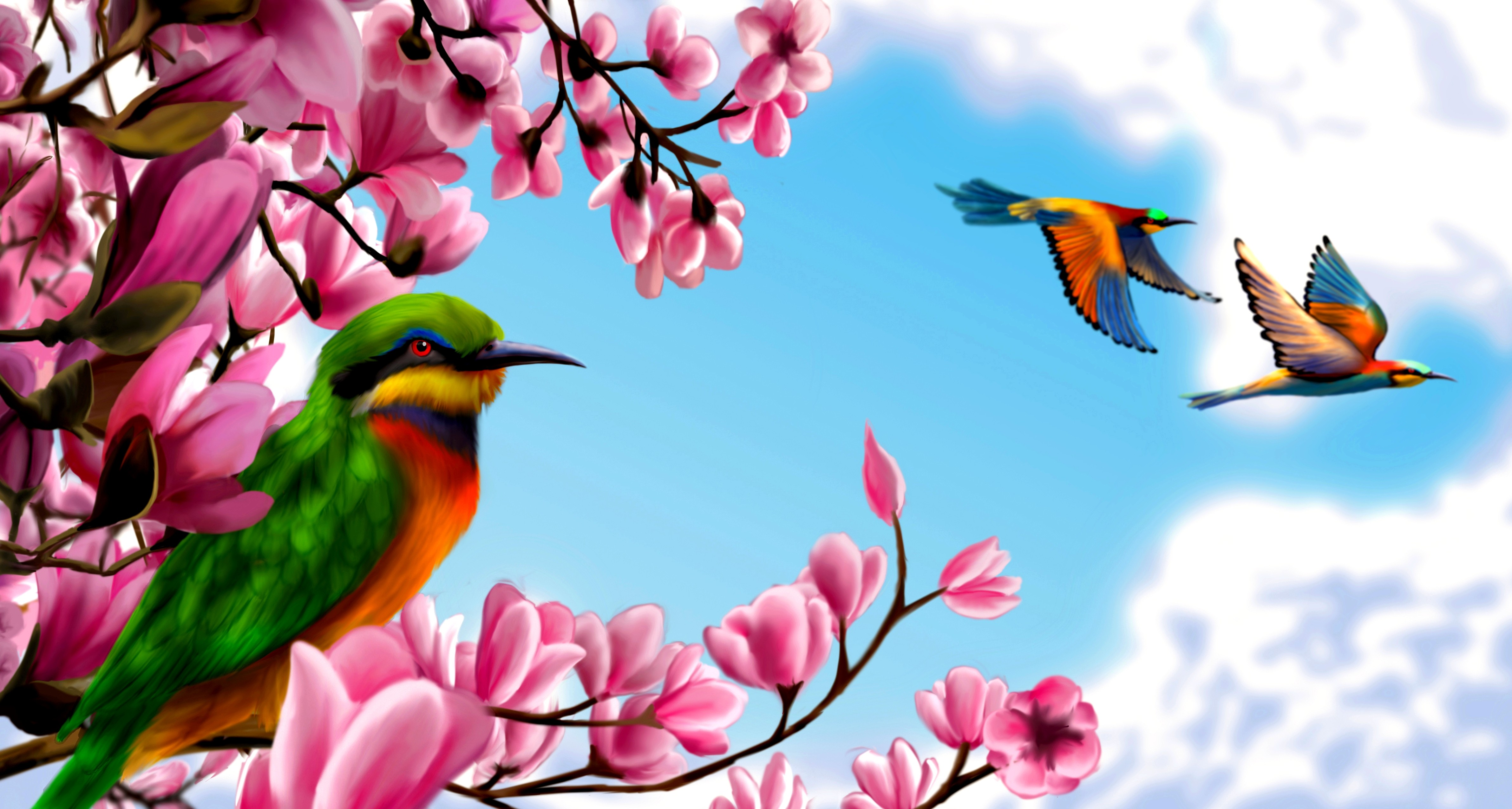 Birds In Paradise Wallpaper