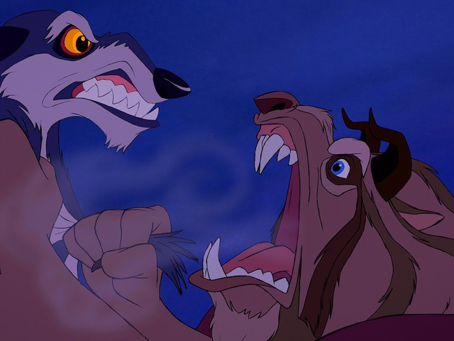 Beauty and the Beast wolf scene, animated