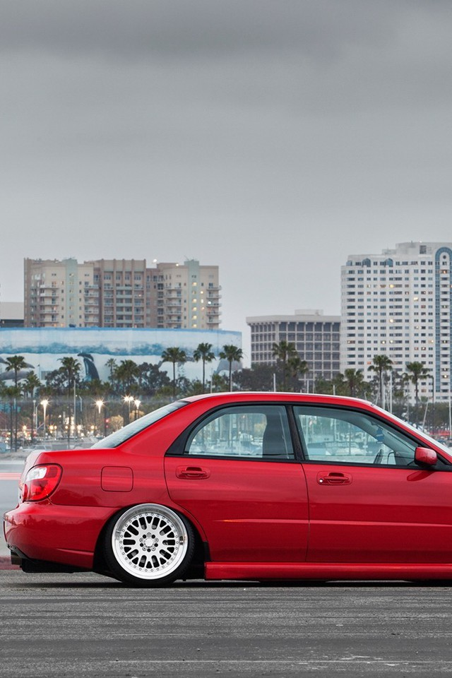 Cars Tuning Subaru Impreza Slammed Wallpaper Allwallpaper In