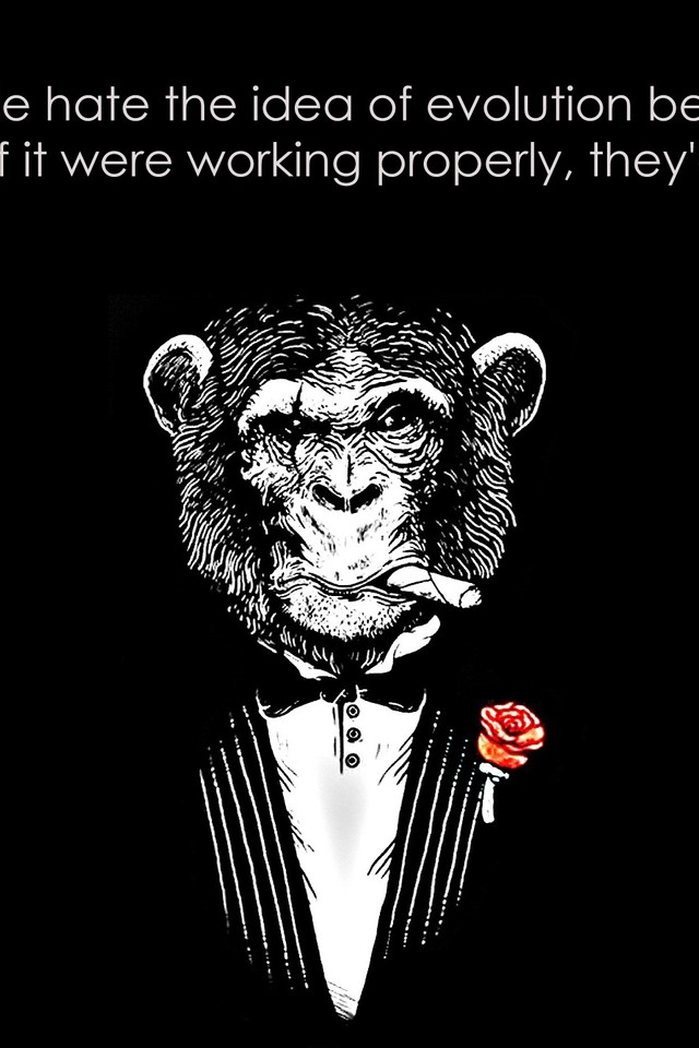 Black And White Quotes Monkeys Background Wallpaper