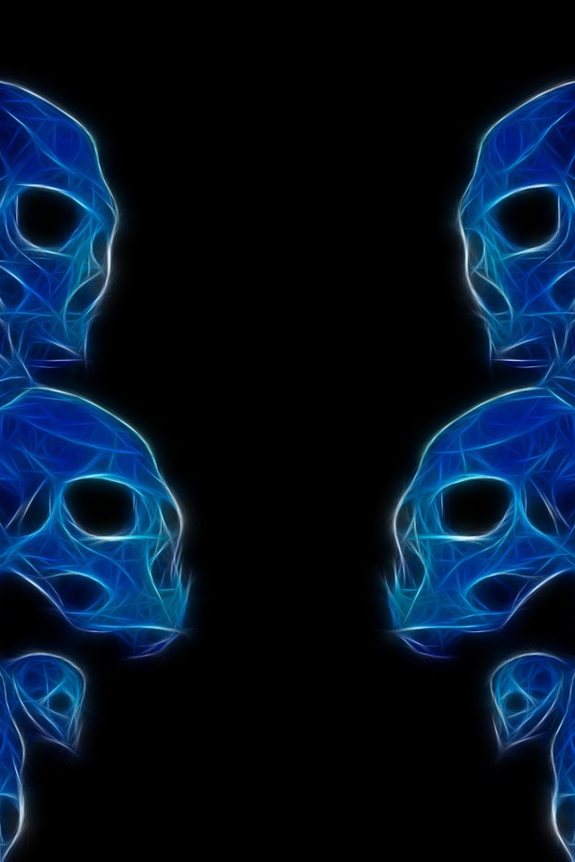 download abstract skull 320x480 - photo #12