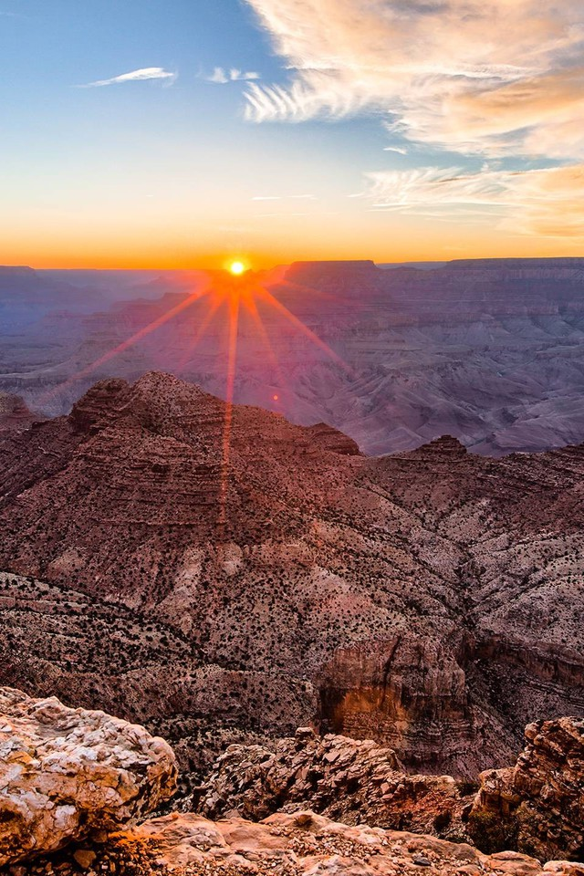 Grand canyon sunset wallpaper | AllWallpaper.in #13863 ...