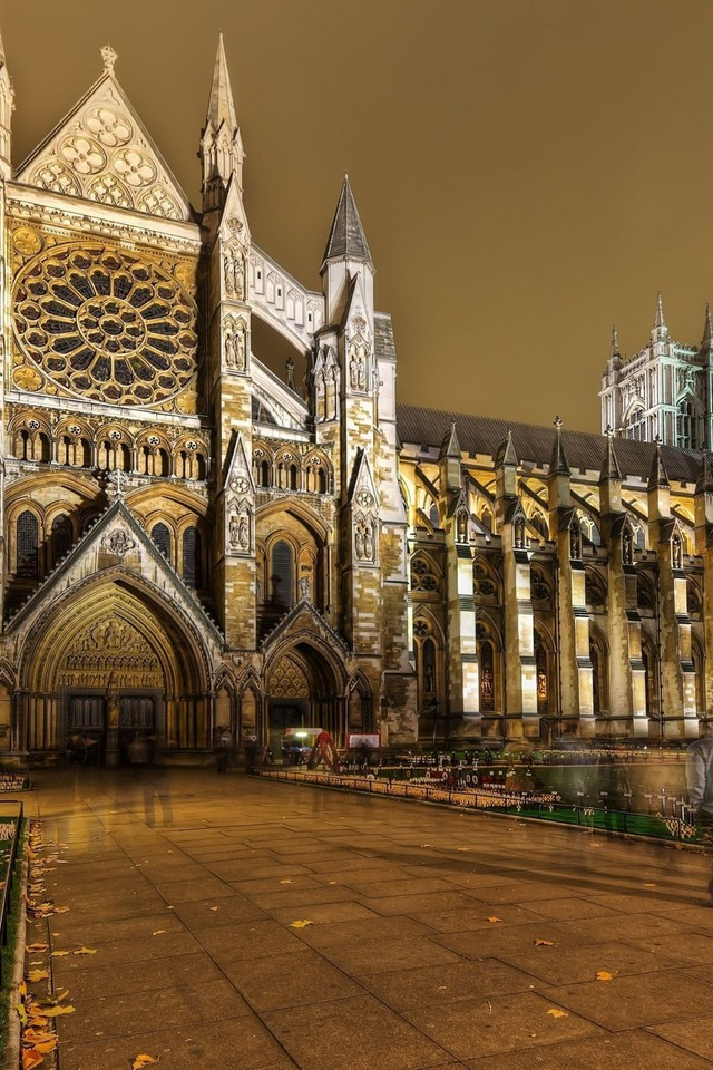 Architecture londres westminster soir abbaye papier peint for Architecture londres