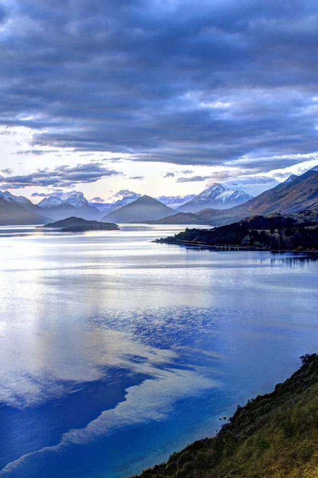 mountains landscapes new zealand lakes wallpaper