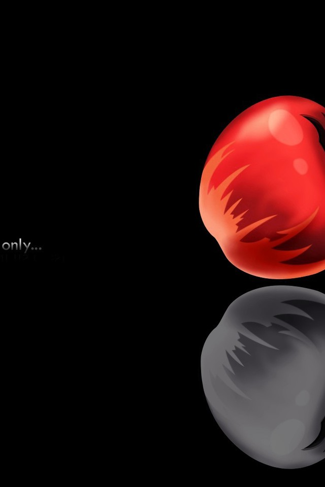 Death Note Minimalistic Apples Wallpaper Allwallpaper In