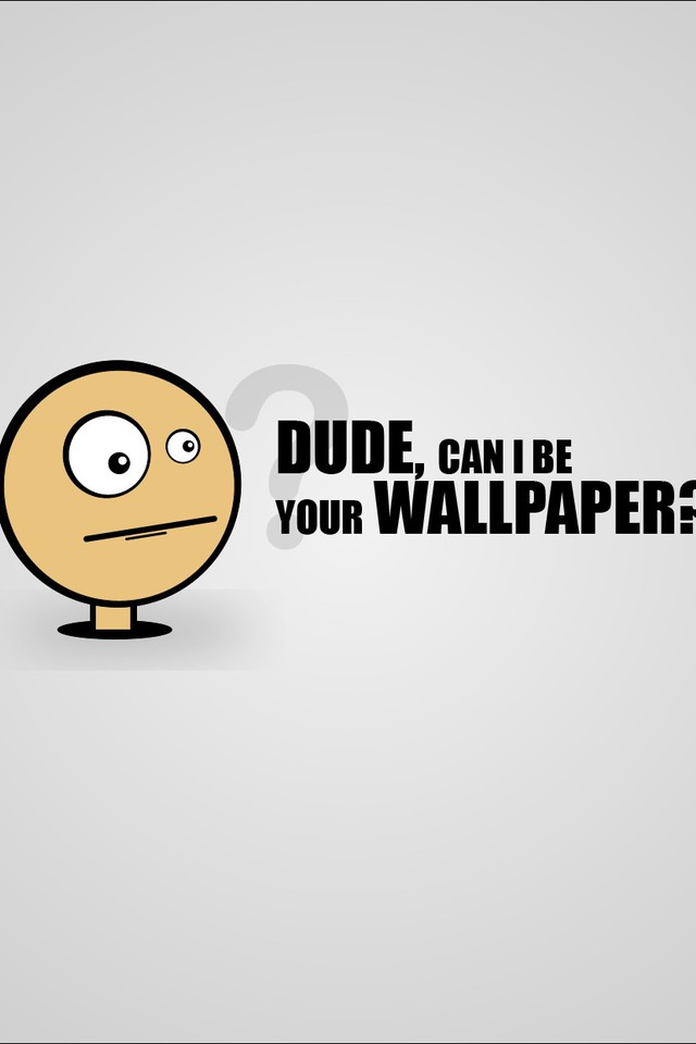 Minimalistic Funny Simple Comic Style Wallpaper