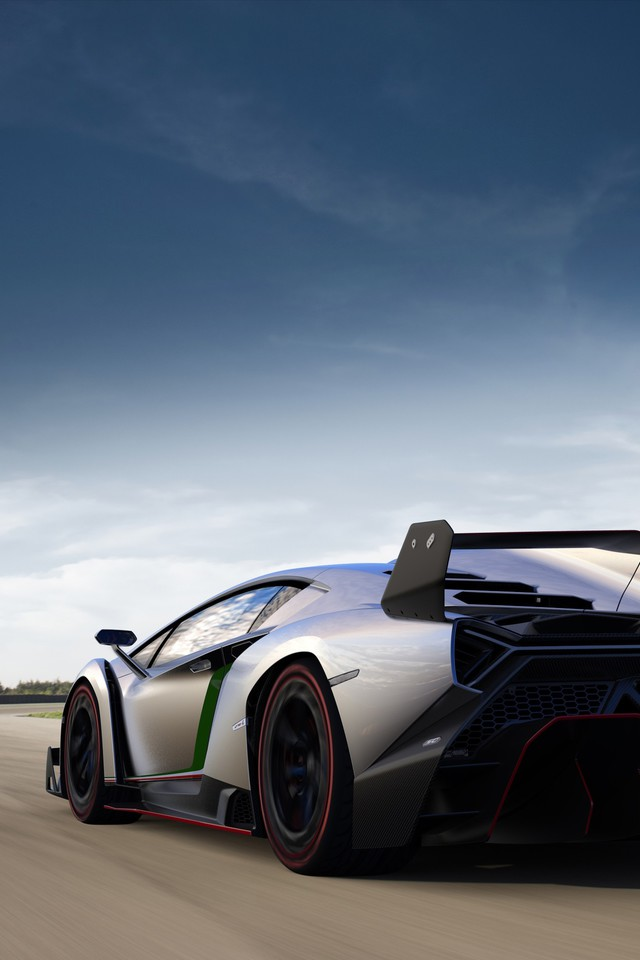 Supercars Italian Rear Angle View Hypercars Veneno Wallpaper
