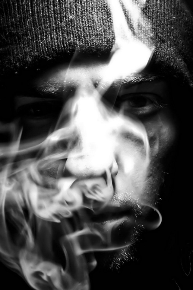 Abstract black smoke smoking wallpaper 16685 pc en - Dark smoking wallpapers ...