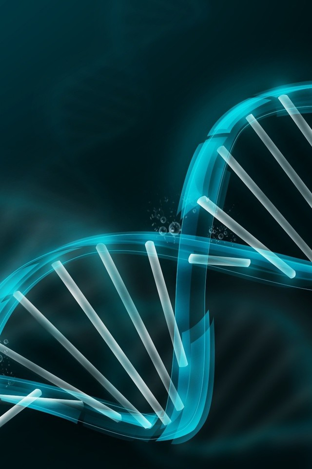 Dna abstract molecule wallpaper