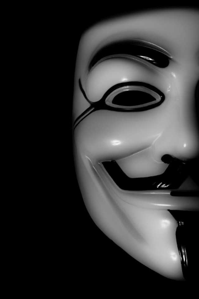 V For Vendetta Mask Wallpaper Anonymous expect us gu...