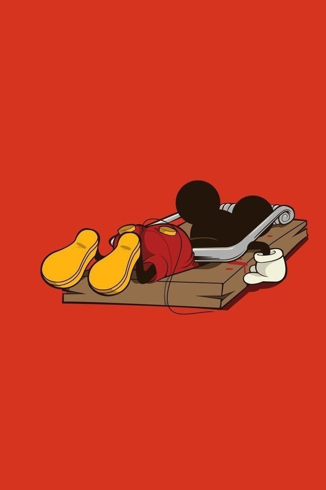 Mickey mouse artwork funny minimalistic red wallpaper ...