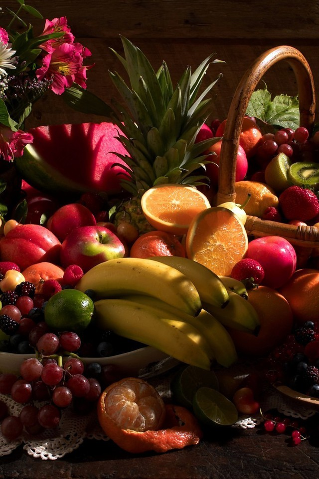 Fruits alimentaires r colte d 39 t papier peint for Ete wallpaper