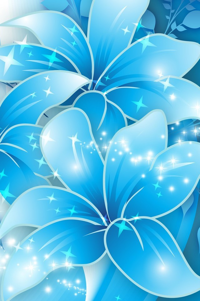 blue butterflies liliesjpg - photo #1