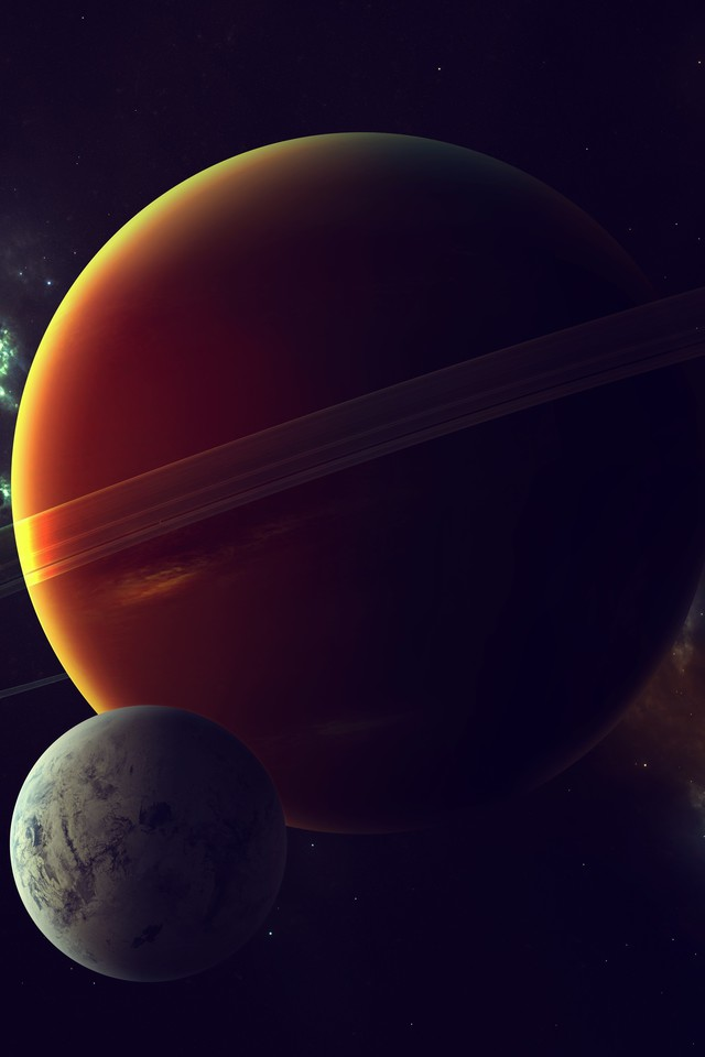 Nebulae outer space planets rings satellite wallpaper ...
