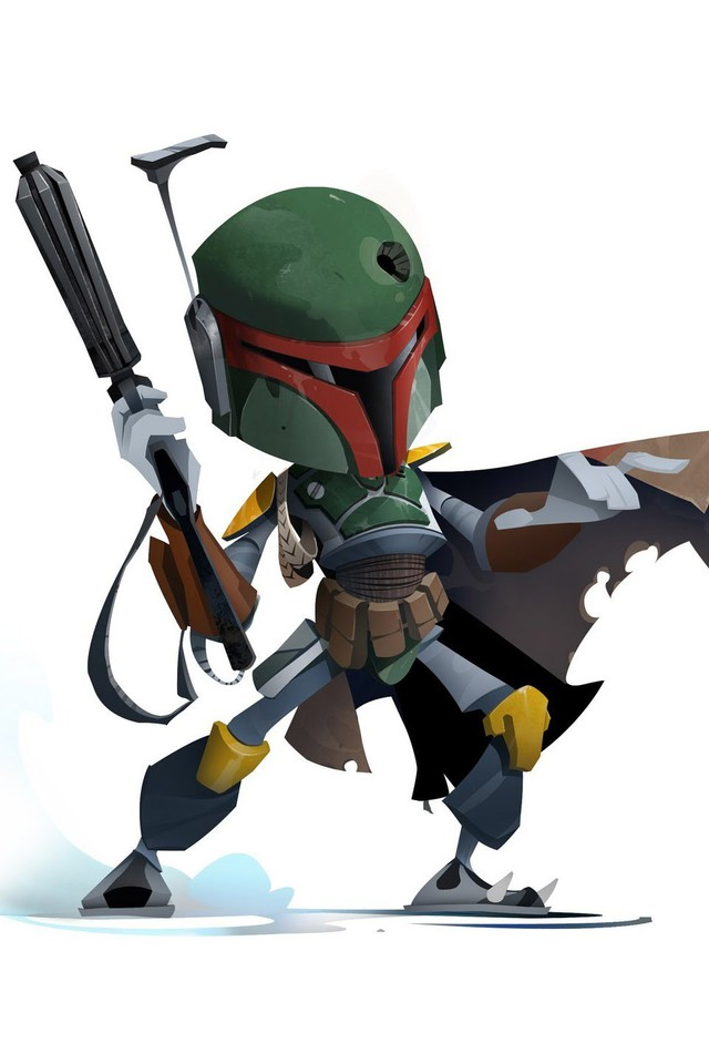 Boba Fett Star Wars Bounty Hunter White Background Wallpaper