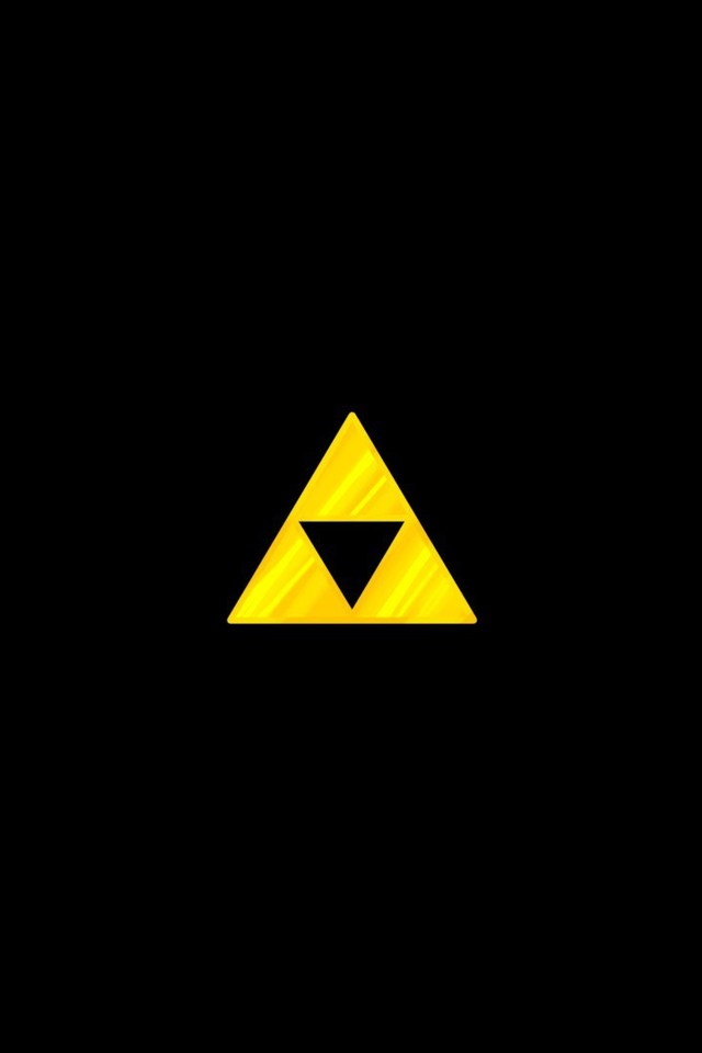 the legend of zelda black background simple triforce