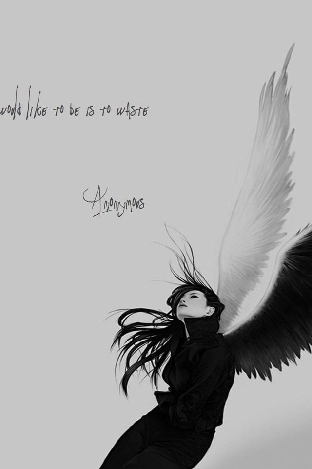 Anonymous Angels Monochrome Quotes Sad Wallpaper Allwallpaper In