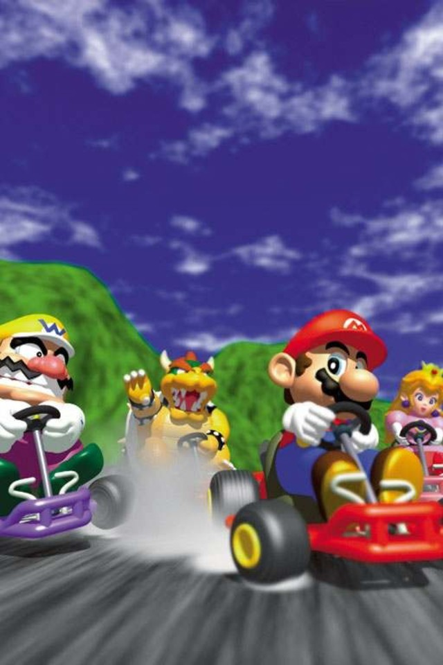 peach bowser wario toad mario kart 64 wallpaper