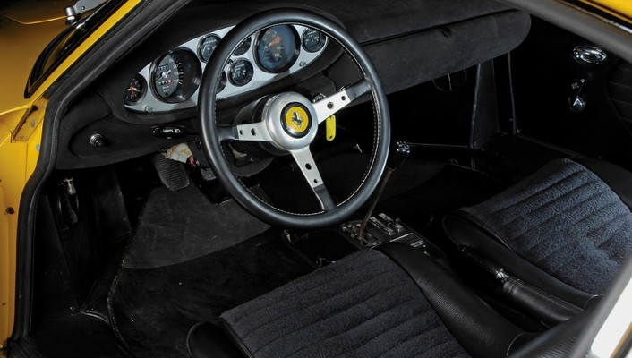 Ferrari dino 206 gt cars dashboards interior wallpaper