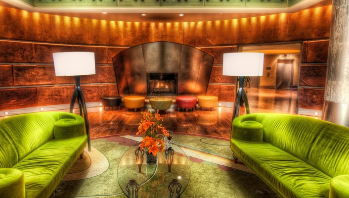 The lime couches hdr wallpaper